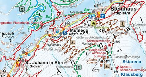 Winter hiking trail from Cadipietra-Steinhaus to San Giovanni-St. Johann